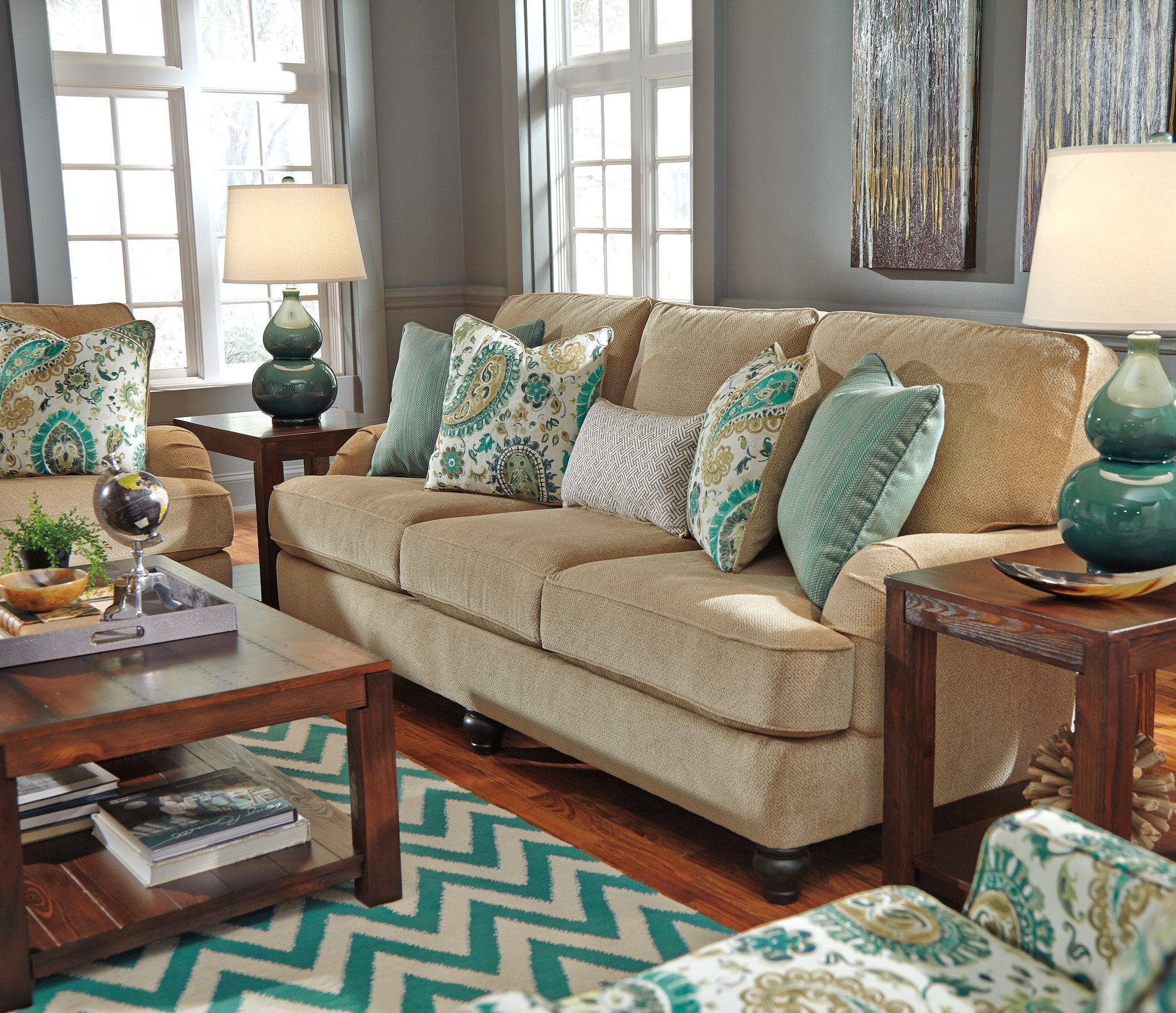 Best Coastal Living Room Ideas Lochian Sofa By Ashley 400 x 300