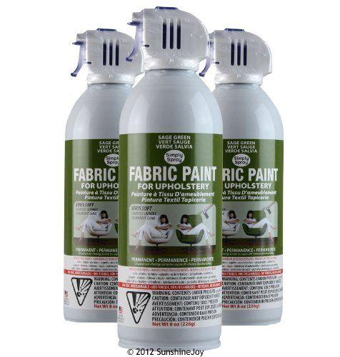 Simply Spray Upholstery Fabric Spray Paint 3 PK Sage Green Simply Spray http://www.amazon.com/dp/B00A81M7B6/ref=cm_sw_r_pi_dp_KLKlwb0ZDCXFP