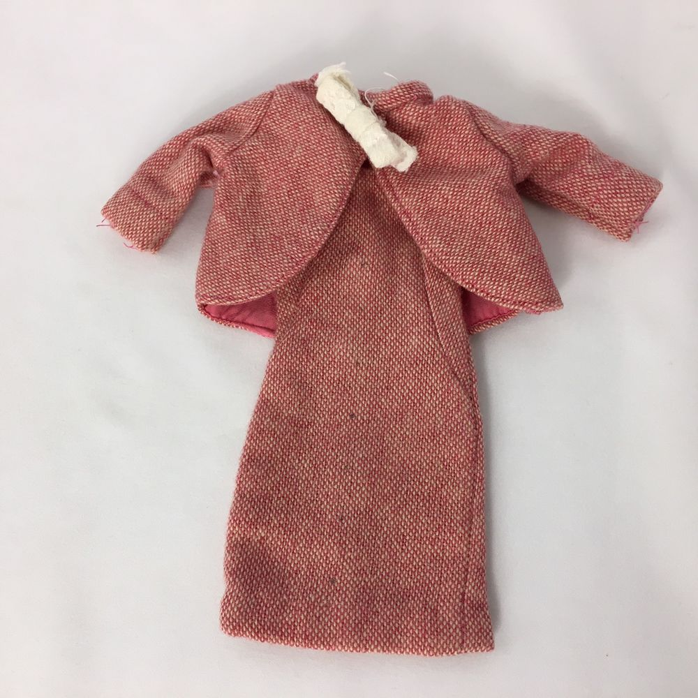 Vintage ideal tammy doll dress and jacket outfit pc red pc