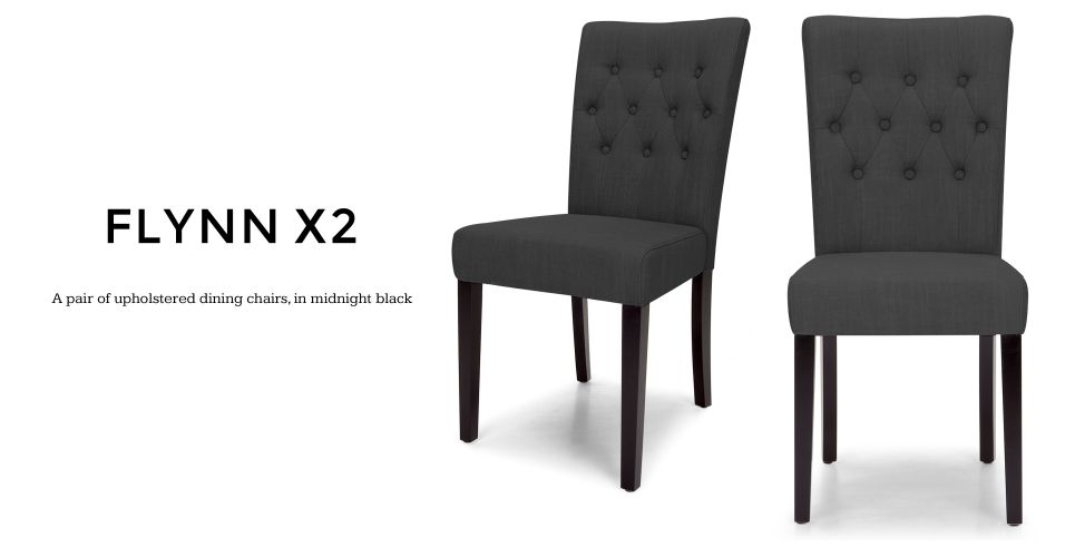 Pair of Flynn Dining Chairs in midnight black madecom  : 99fcb28d99be7ef70061983fca699e6a from www.pinterest.com size 965 x 500 jpeg 98kB