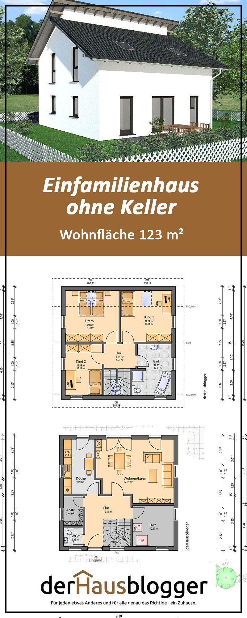 Dieses schlichte Einfamilienhaus mit einer Wohnfläche von gut 123 m² steht in der Nähe von