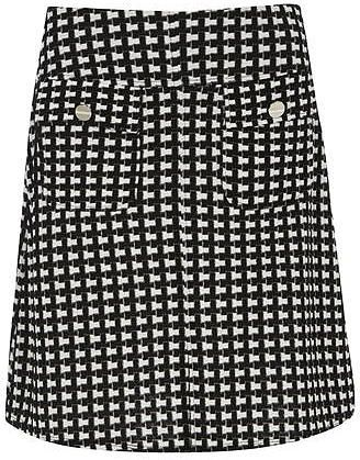 Dorothy Perkins Womens Monochrome Boucle A-Line Skirt- Shop Sale Online X6beK