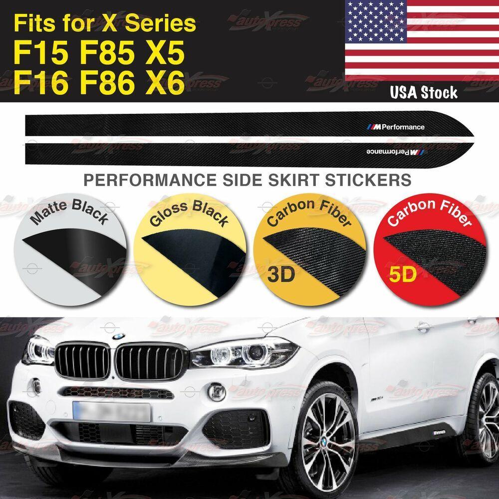 M Performance Side Skirt Vinyl Decal Sticker For Bmw F15 F16 F85 F86 X Series Us Unbrandedgeneric Black Stickers Bmw X Series Vinyl Decal Stickers