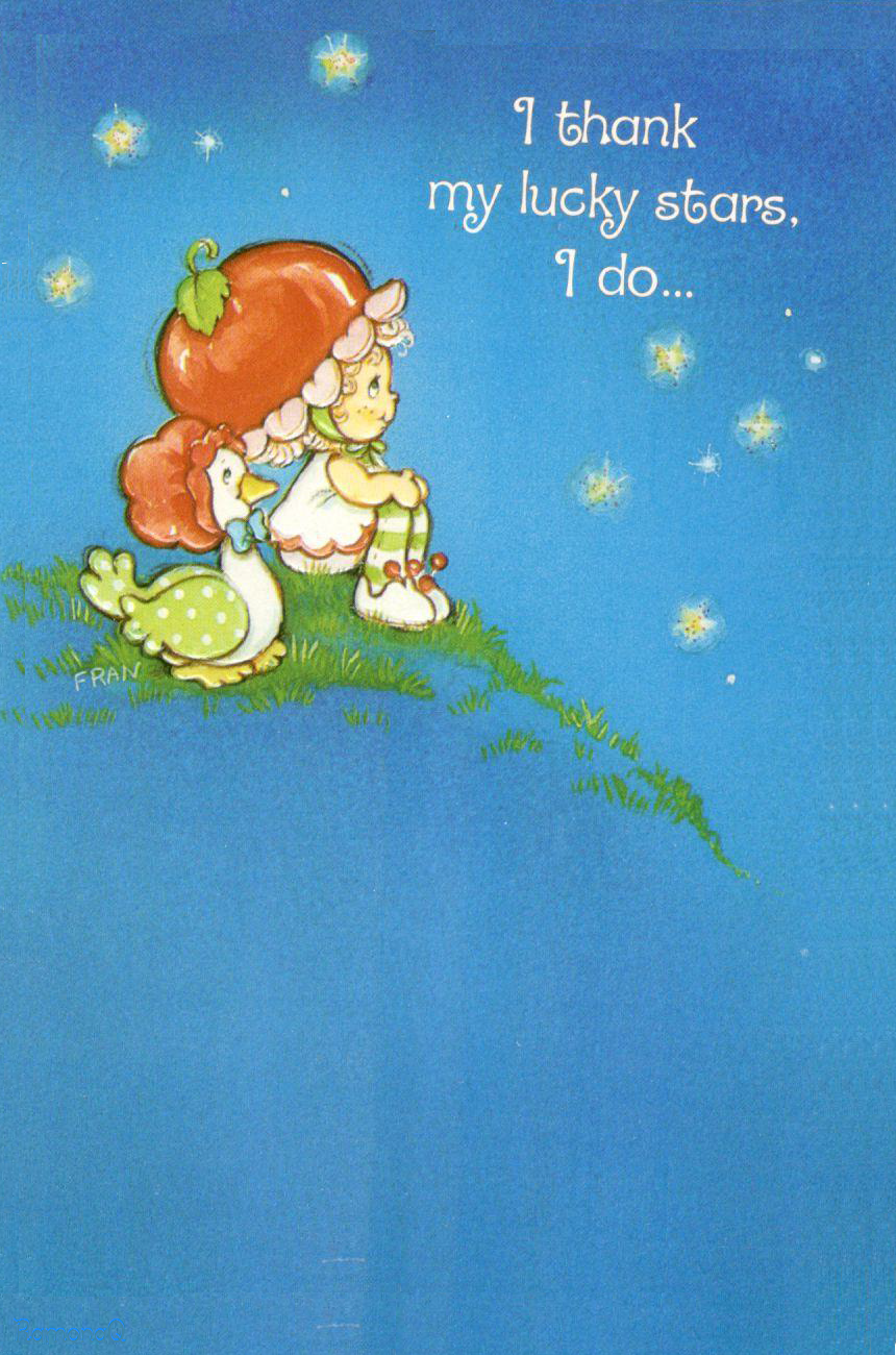 Vintage kenner american greetings strawberry shortcake greeting vintage kenner american greetings strawberry shortcake greeting card cherry cuddler gooseberry starry night kristyandbryce Choice Image
