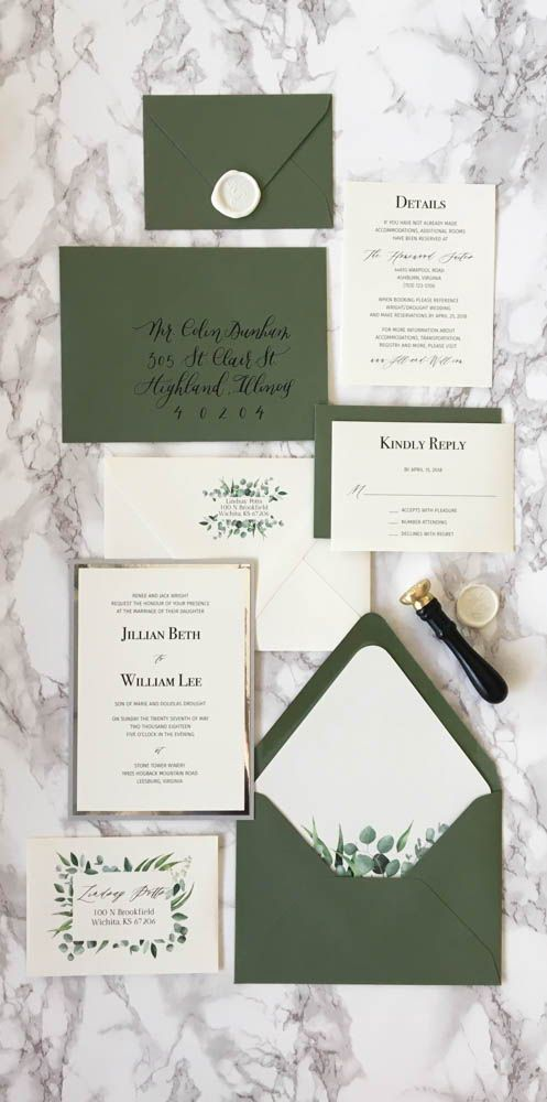 We Are In Love With This Hunter Green And Silver Wedding