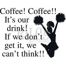 """Riley & Company Funny Bones Cling Mounted Stamp 2.5""""X2""""-Coffee Cheer"""