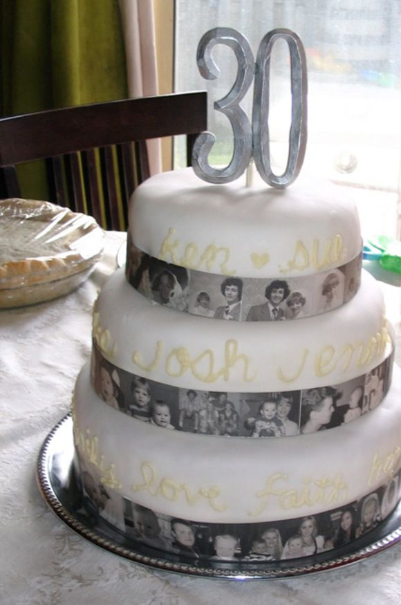 Wedding Anniversary Cake Decorated With Photos - Photos are ...