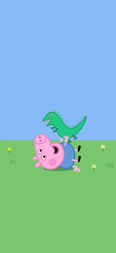 Cartoon Of Cartoon Of Piggy Admire Strange Peppa Pig Wallpapers