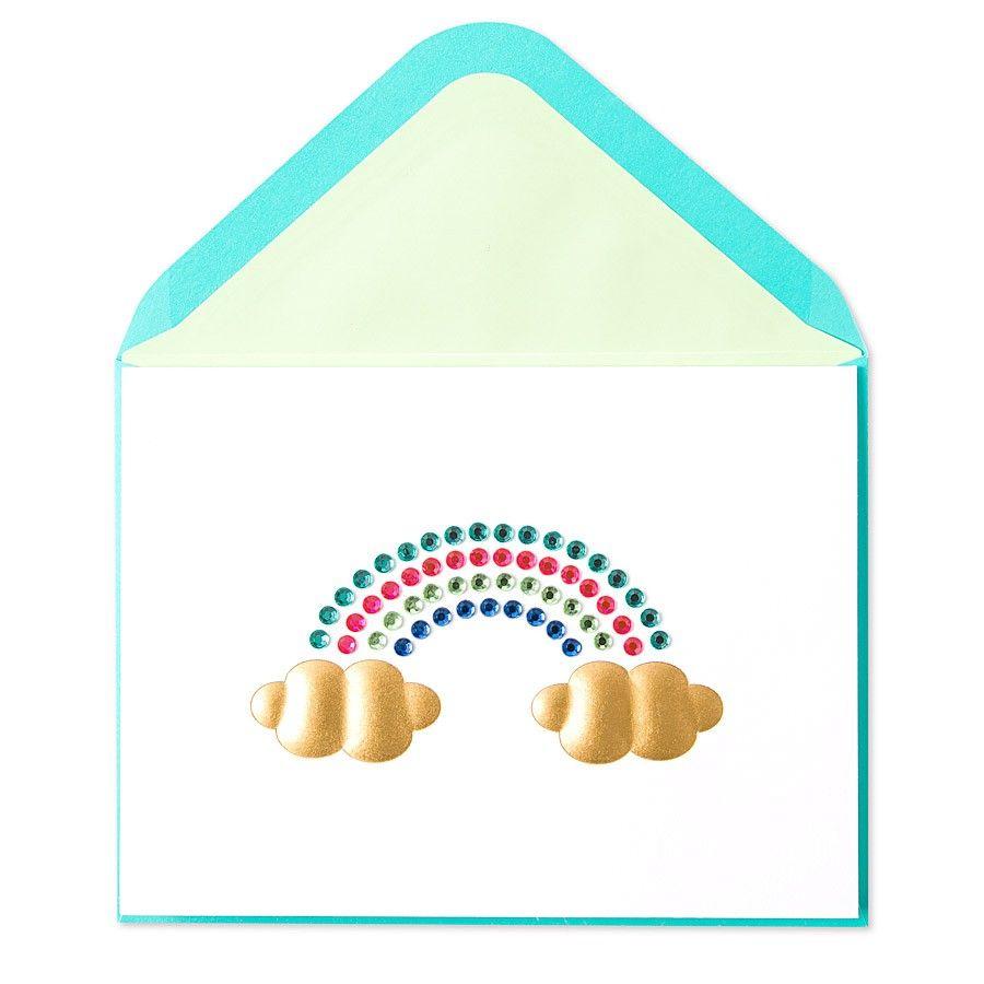 Gem Rainbow Birthday Card Gems Rainbows And Birthdays