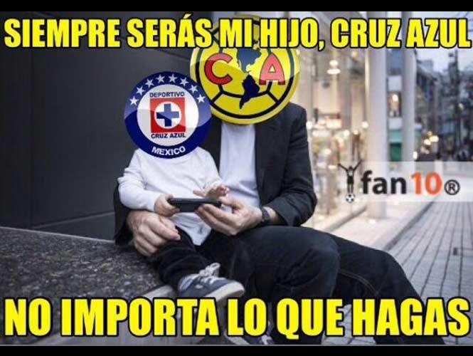 Los Memes De La Derrota Del Cruz Azul Y El Liderato Del America Cruz Azul Unas Azules Memes Del America