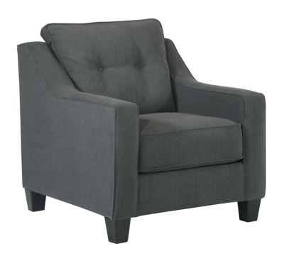 Dark Gray Shayla Chair View 2 Furniture Family Room Chair Chaise Sofa