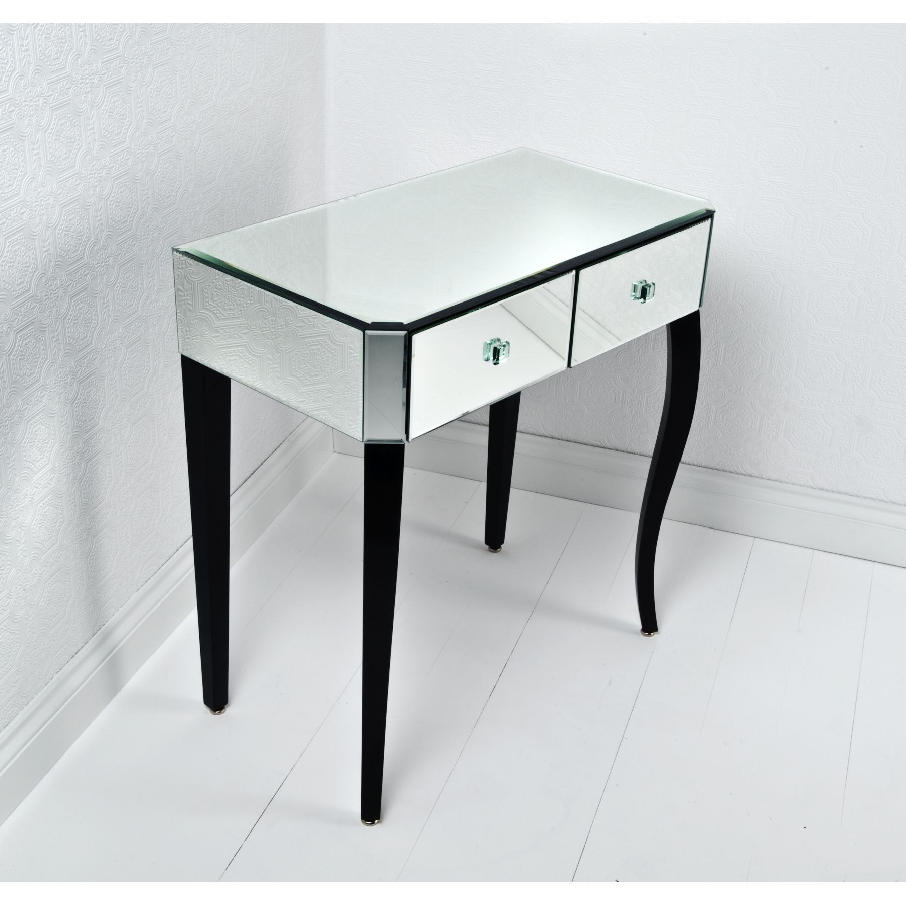 black vanity table without mirror. Amazing White Trifold Mirror With Drawers Storage And Stool As
