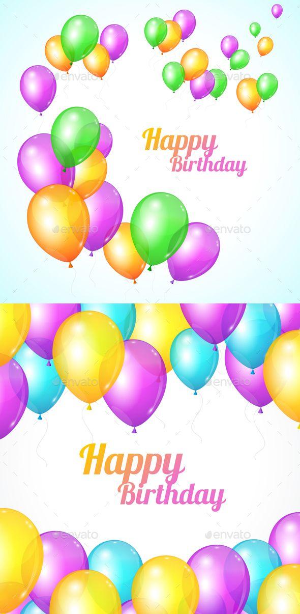 Happy Birthday Card Balloons Fly Best Design Pinterest Happy