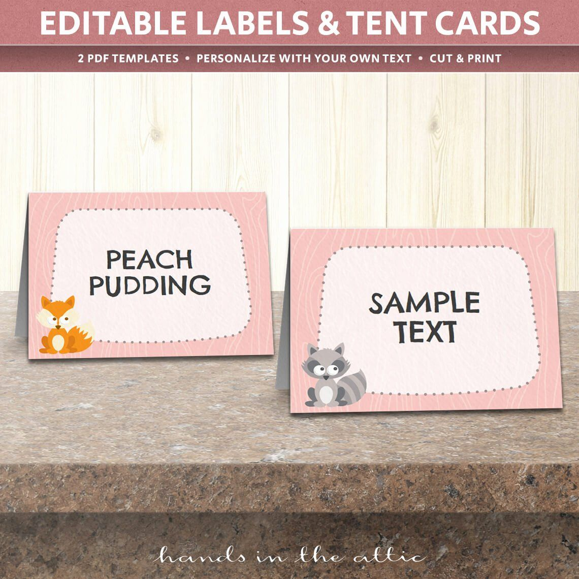 Free Printable Table Tent Cards Fresh Woodland Animals Table Tent Cards Template Table Place Cards Templates Printable Free Place Card Template Tent Cards