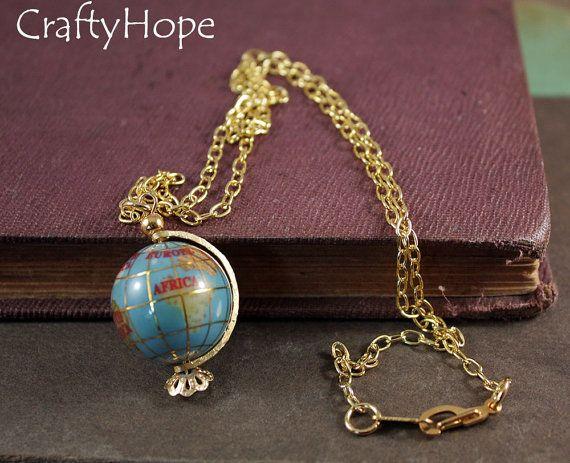 Globe Necklace by CraftyHope