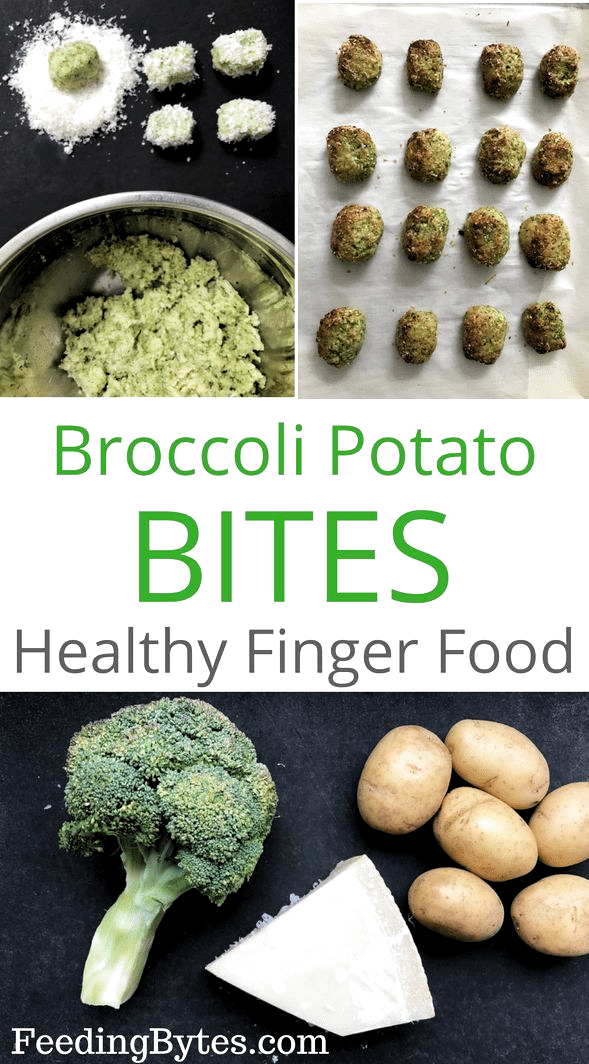 Baby Friendly Broccoli Tater Tots, the perfect baby finger food idea. This fast and easy recipe makes a nutritious finger food for babies 6 month + and toddlers. Its also a healthy snack option for toddlers and older kids. Feeding Bytes UK #babyfingerfood #babyfingerfoodidea #toddlerfood #startingsolids #startingsolidsforbaby #healthysnack #broccolitatertots #tatertots