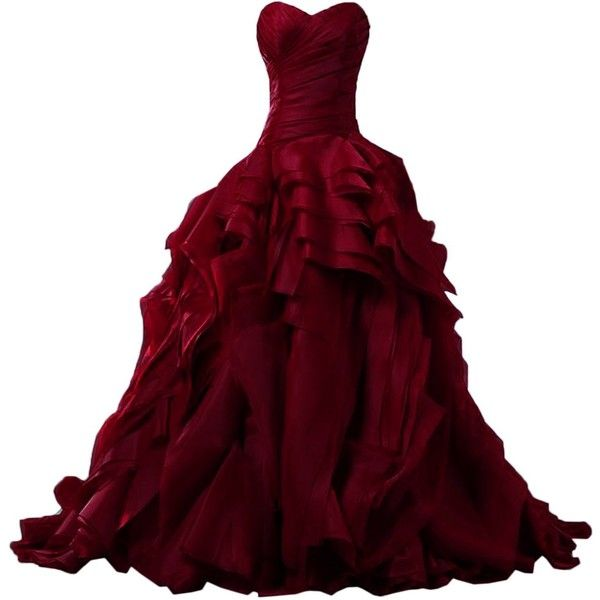 Sunvary Luxurious Burgundy Ball Gown Quinceanera Dresses for Prom with Ruffles | Amazon.com #masqueradeballgowns
