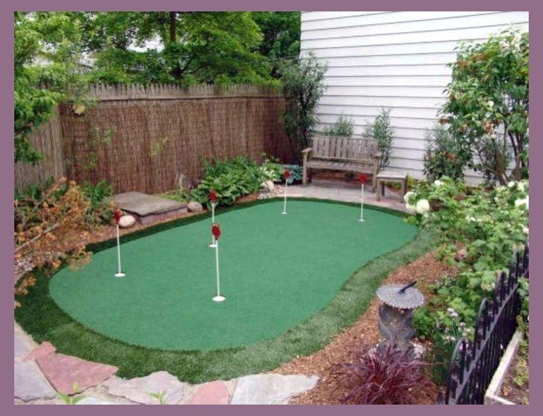19' x 24' Pro 5-Hole Backyard / Indoor Putting Green w ...