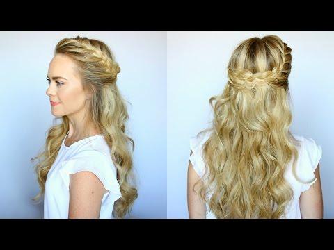 Half Up French Braid Crown | Missy Sue