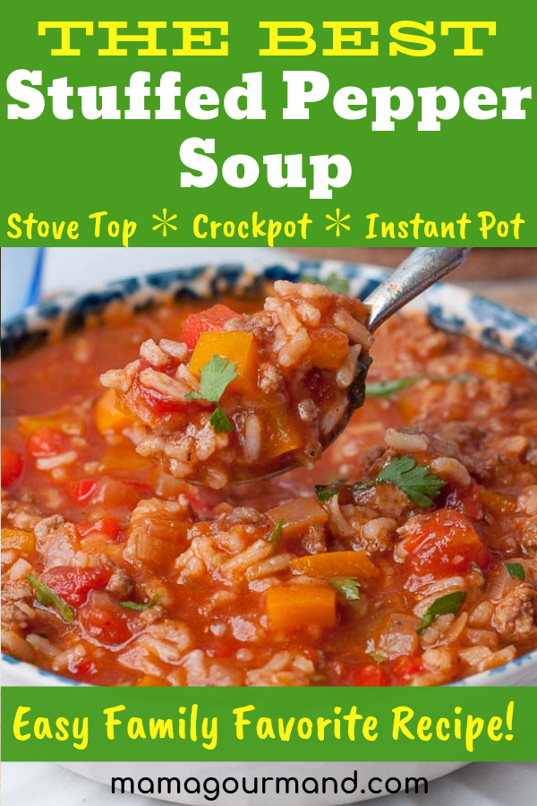 Stuffed Pepper Soup Recipe Stuffed Peppers Stuffed Pepper Soup Instant Pot Dinner Recipes