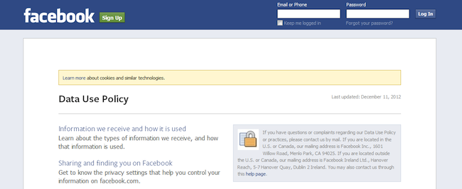 Examining your rights and #Facebook's privacy policies
