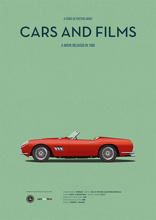 Ferris Bueller's Day Off (1986) ~ Minimal Movie Poster by Jesus Prudencio ~ Cars and Films Series