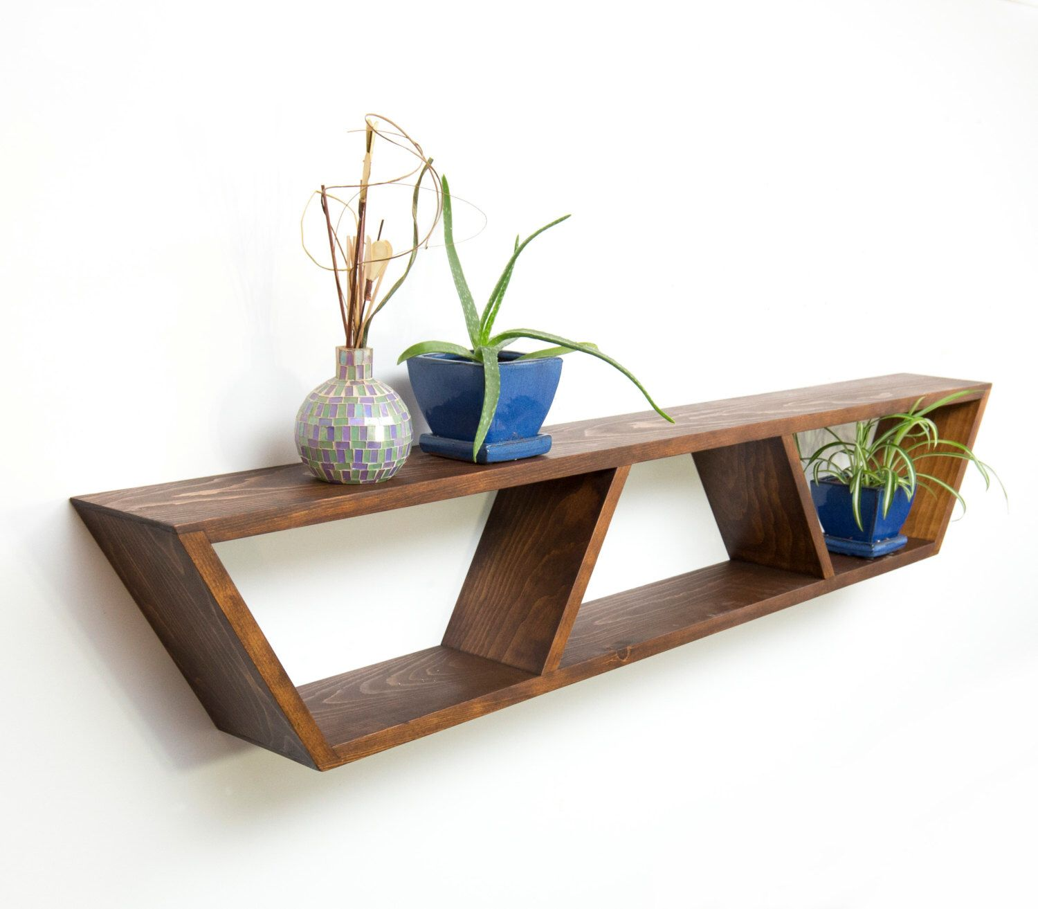 Floating Shelf  Modern Shelf  Geometric Shelf  Wall