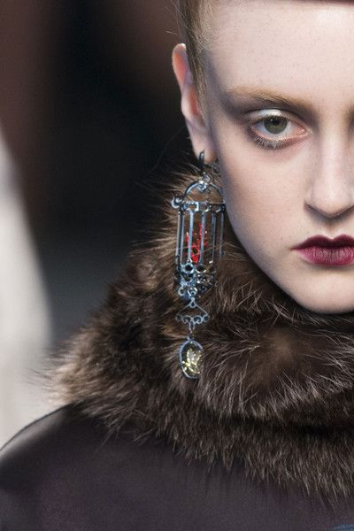 Antonio Marras Fall 2014 love these earings, they remind me of glowing lanterns on a cold winter night.