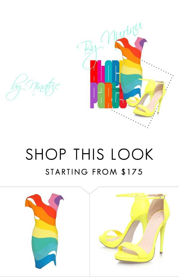 """""""Yellow#!"""" by nurinur ❤ liked on Polyvore featuring Thierry Mugler and Carvela Kurt Geiger"""