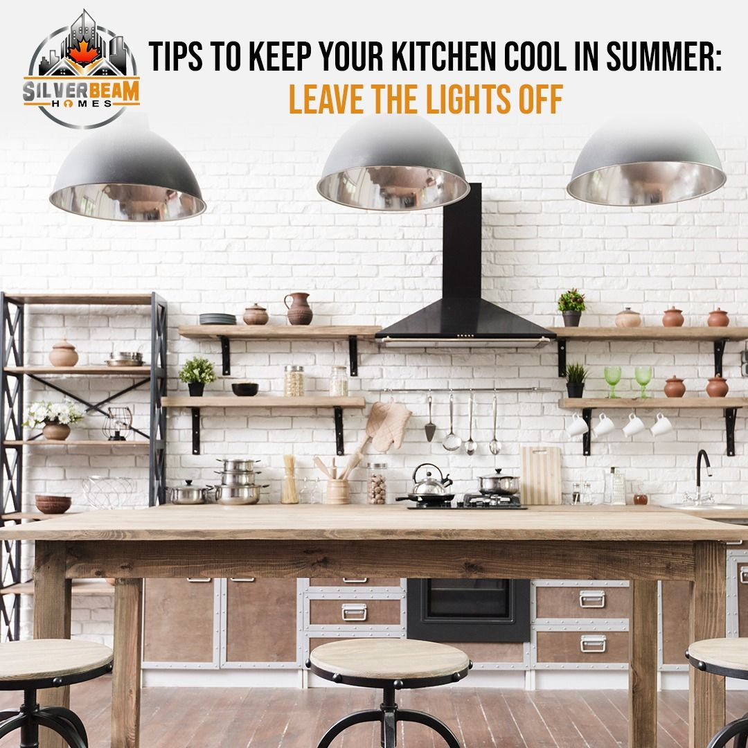 Extra lights in your kitchen can feel like you're baking under the hot sun and can bring unnecessary heat into a room that is one of the hardest to keep cool in the summer. To keep your kitchen free of heat from light sources, pick just one source, and keep the rest turned off. ⠀ #SummerKitchenTips #KitchenTips #KitchenTipsAndTricks #TurnsoffTheLights #LeaveTheLightsOff #CoolKitchens #CoolKitchensLife #VancouverHomeBuilder #CustomHomesBuilder #VancouverHousing #Vancouver_Canada⠀ #SilverBeamHomes