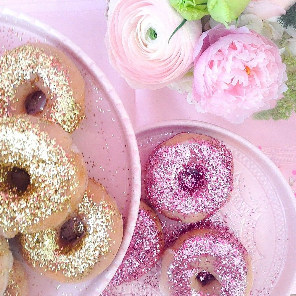 pink the townu0027s glitter doughnut party pink the town