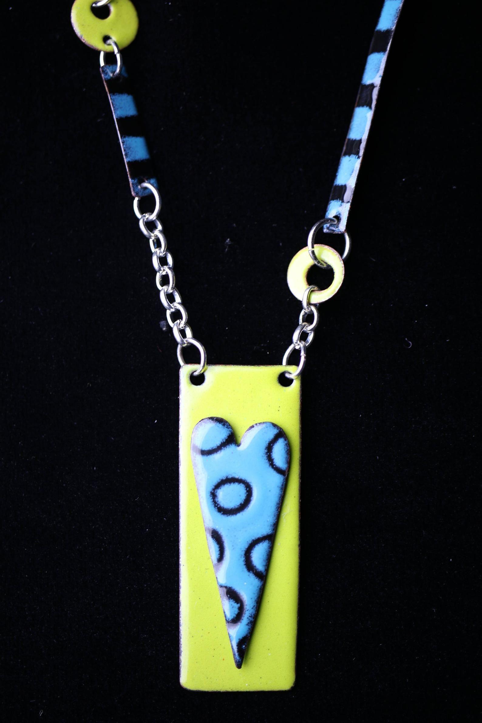 Enameled Jewelry Enameled Necklace Pendant Necklace Etsy Enamel Necklaces Enamel Jewelry Jewelry
