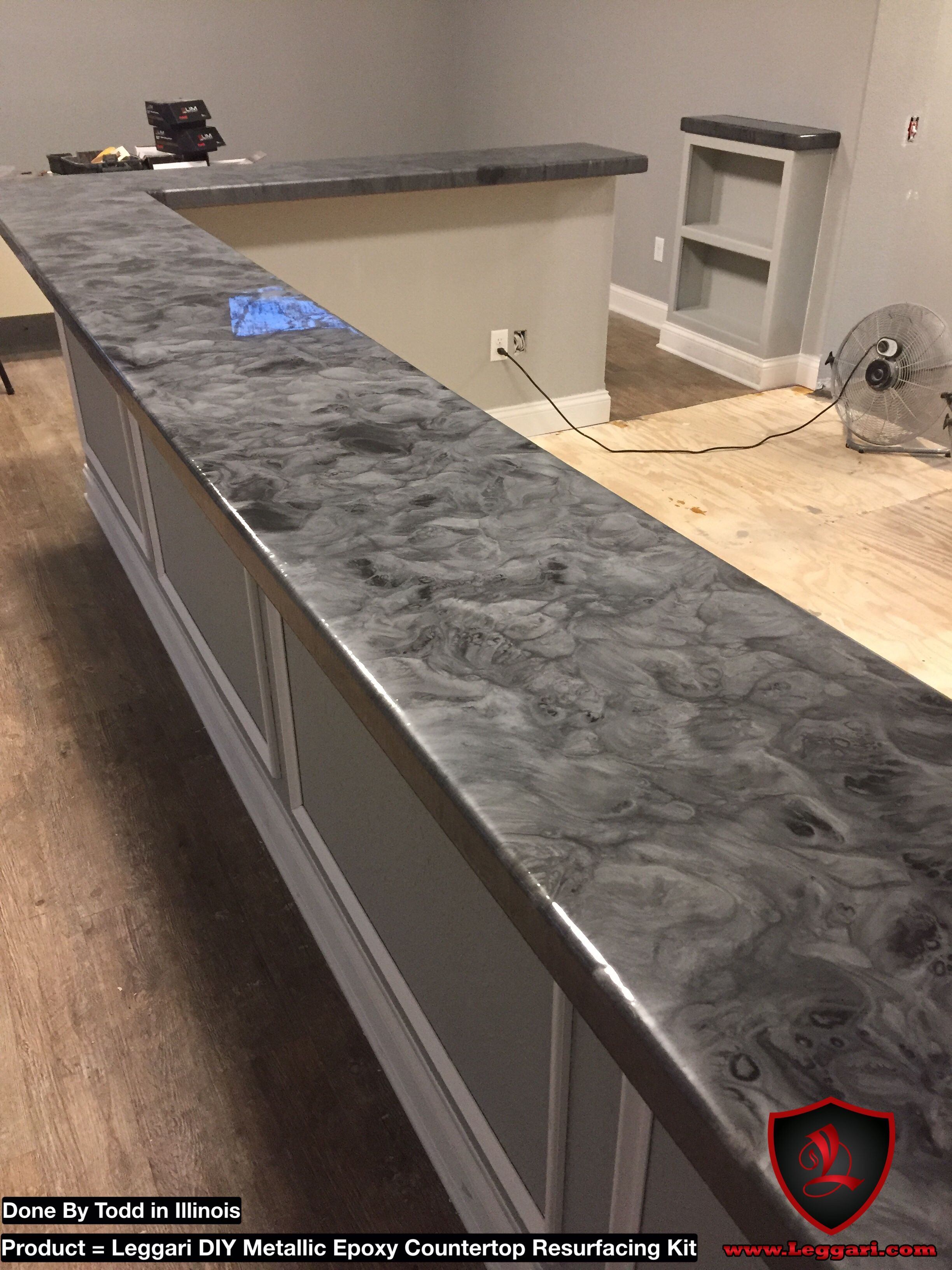 This Counter Has Some Depth Coat Anything With Our Diy Metallicepoxy Countertop Resurfacing Kits Countertop Remodel Diy Kitchen Countertops Countertops