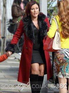 0aad20a38752 Kat's Red Coat With Black Fur Trim | Wallace | Jackets, Fur, Fur trim