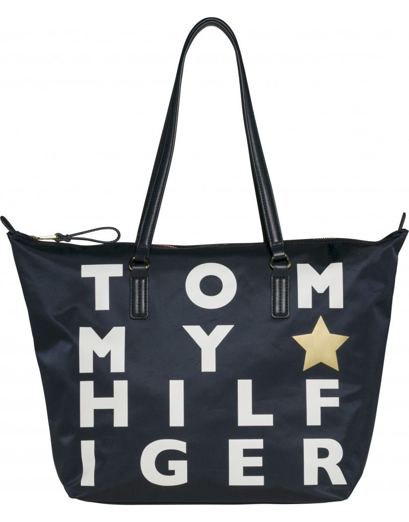 80dc2b4b23 Accessorize right this year with the Women's Poppy Tote Bag by Tommy  Hilfiger. Its stunning Tommy branding, combined with functional design  makes the bag a ...