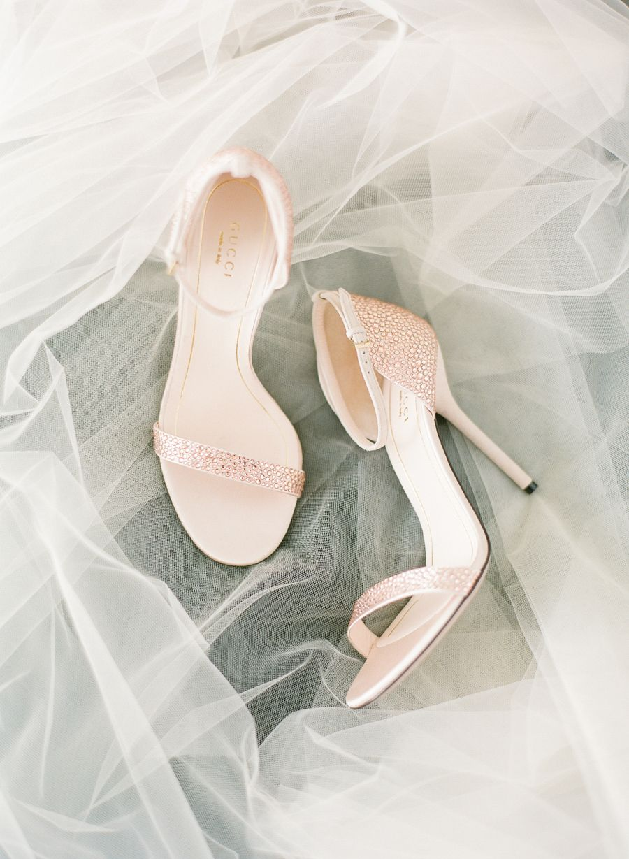 Pale pink wedding shoes by Gucci image by KT Merry See more in