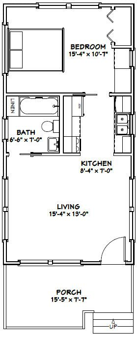16x32 tiny house 16x32h1 511 sq ft pdf house plans garage plans shed plans tiny. Black Bedroom Furniture Sets. Home Design Ideas