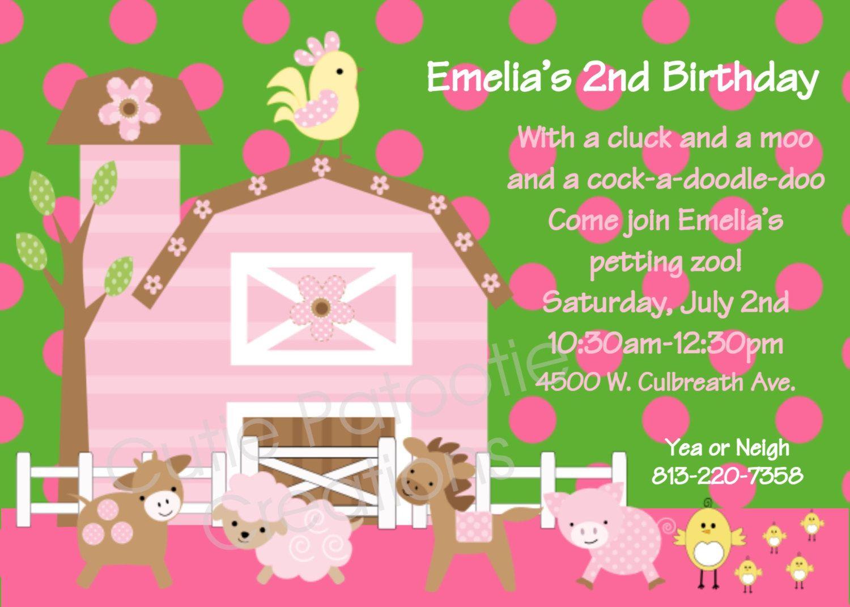 Petting zoo birthday party invitations bristol farm party petting zoo birthday party invitations filmwisefo