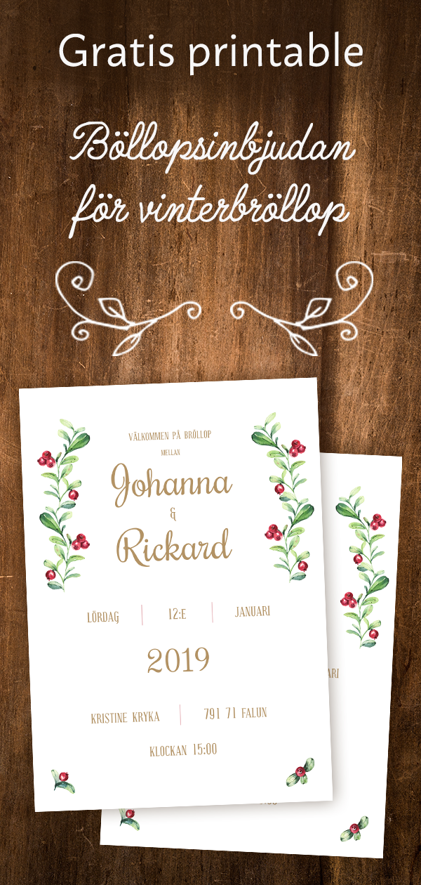 inbjudningskort bröllop gratis