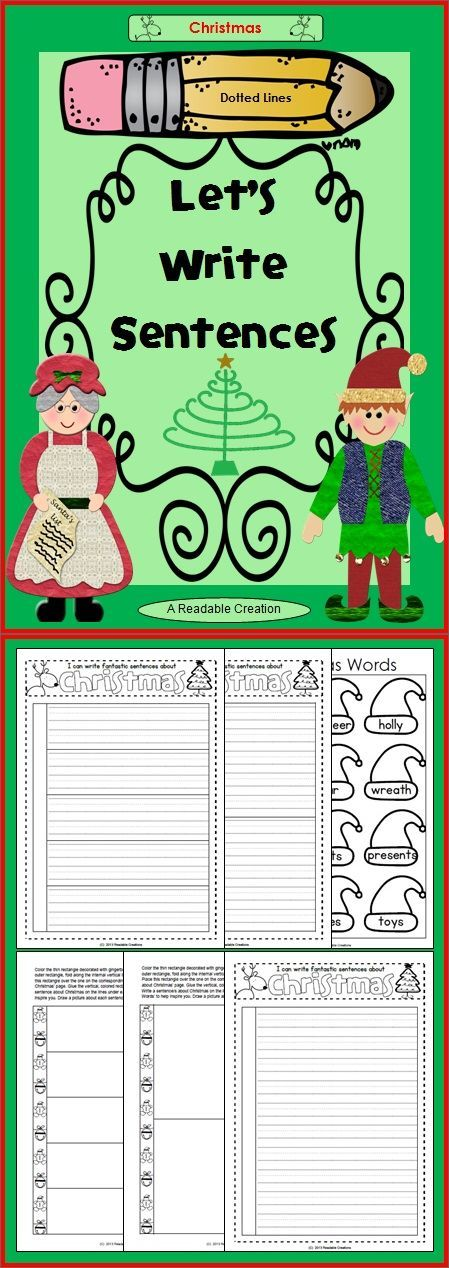 This free Christmas writing pack includes a choice of three different dotted-lined writing pages, corresponding flaps, and a Christmas vocabulary page. (K-2)
