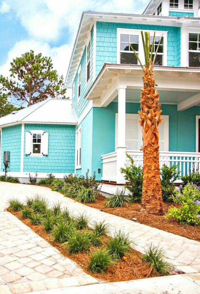 Beautiful House Beach House Exterior Beach House Colors Beach