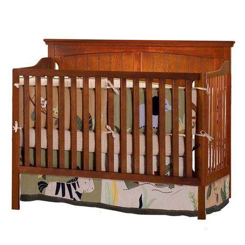 Bassett Baby Cape Cod III 4-in-1 Convertible Crib in Cherry: Nursery ...