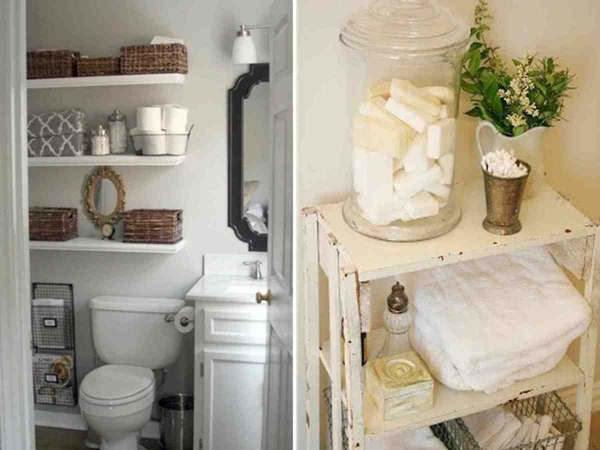 Storage Ideas For Small Bathrooms With No Cabinets White