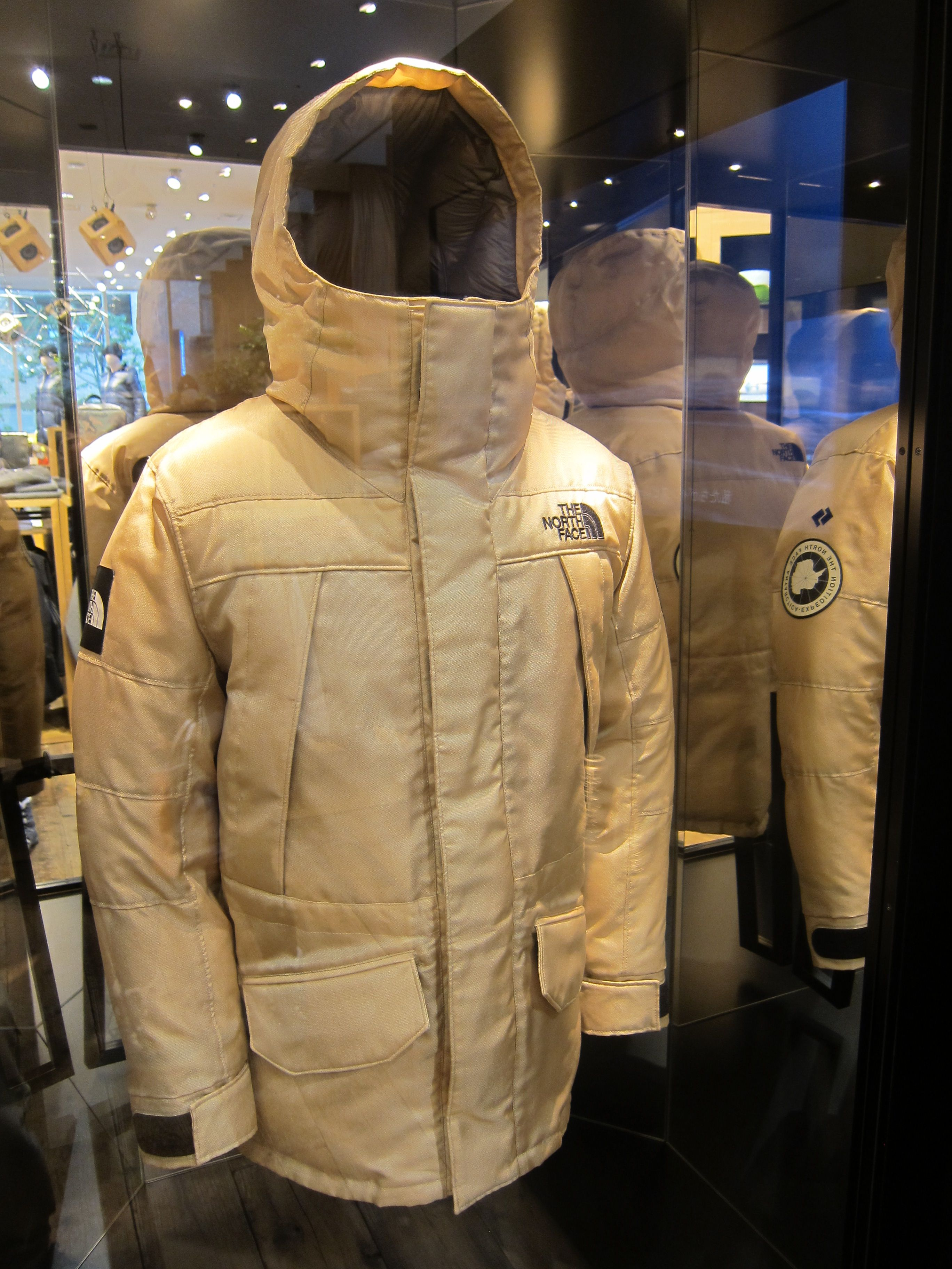 f26183eec0 The Moon Parka Display at The North Face Store in Sendai