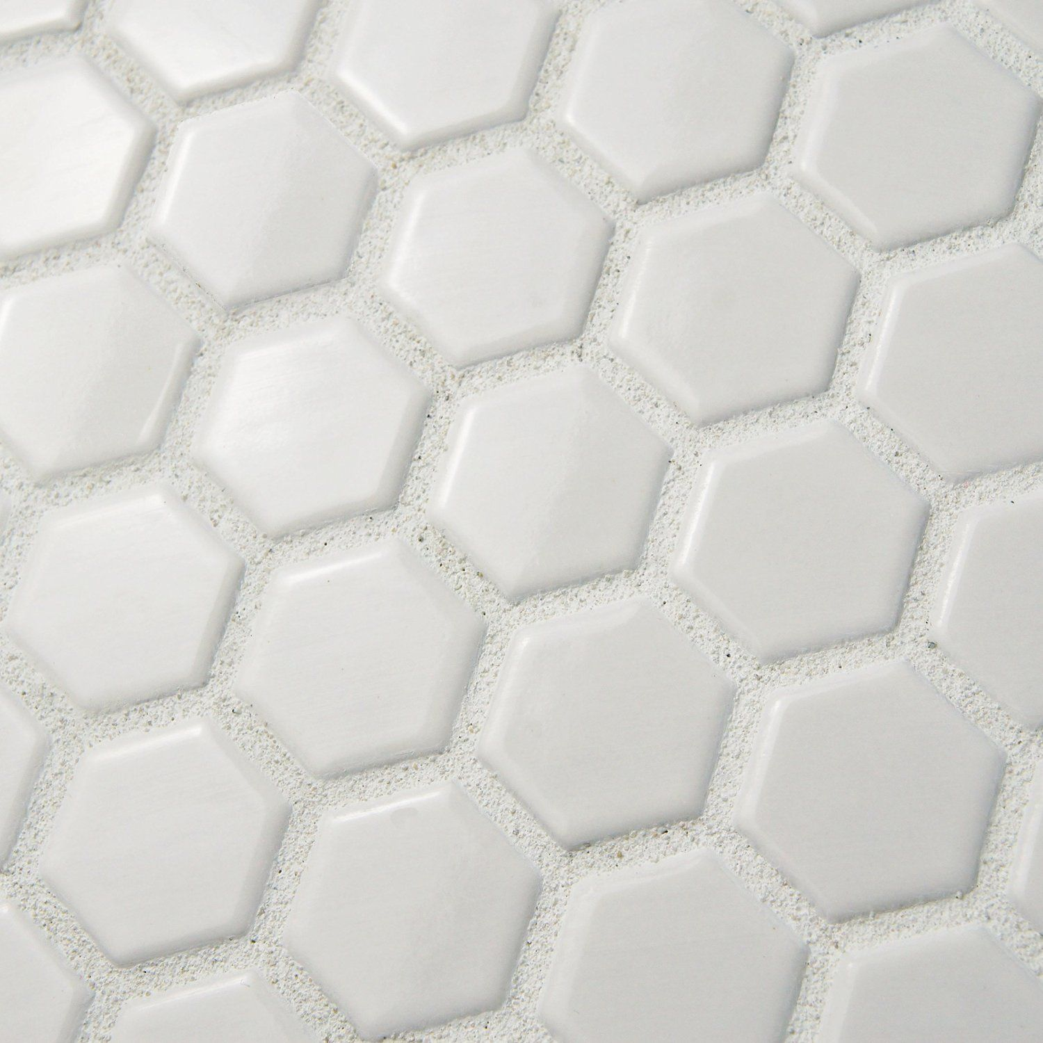Retro Hex Matte White 10 1 4 X 11 3 Inch Porcelain Floor