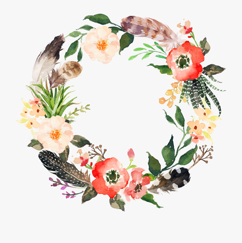 Garland Clipart Marigold Watercolor Flower Wreath Png Is Popular Png Clipart Cartoon Images Watercolor Flower Wreath Watercolor Flowers Floral Watercolor