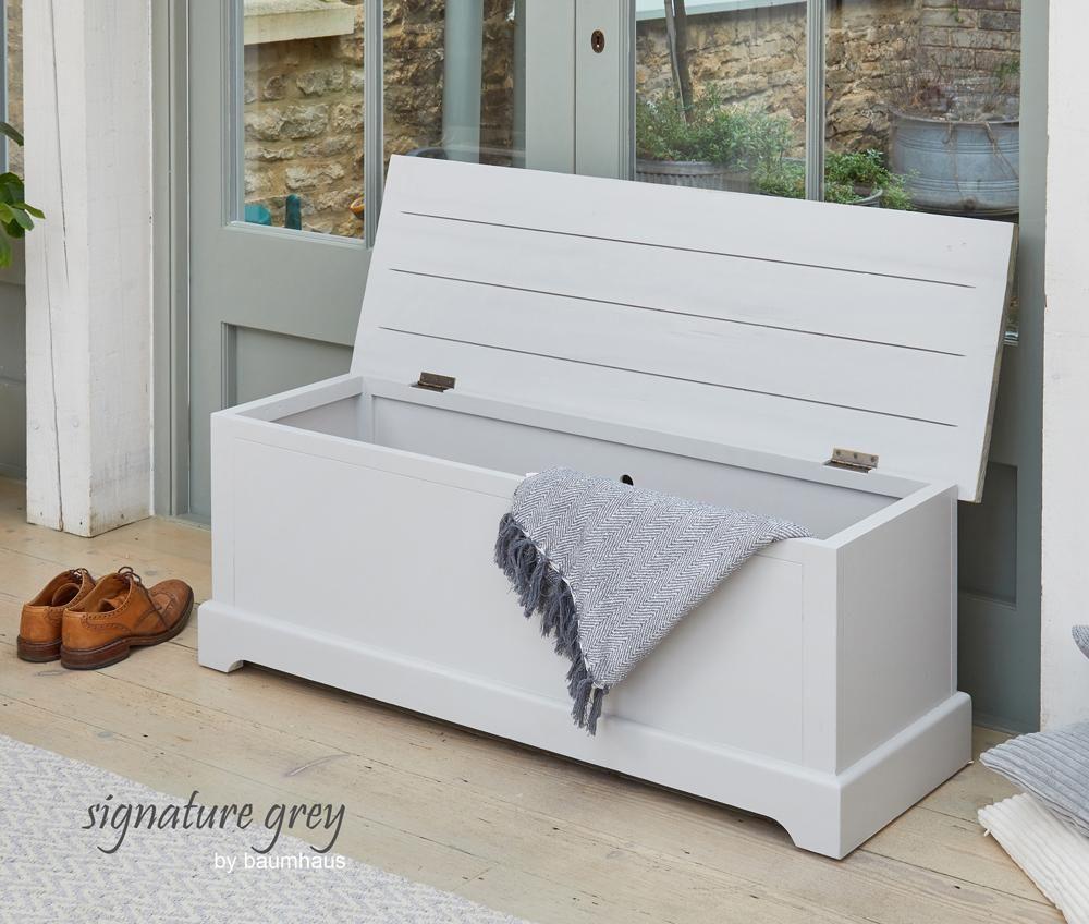 Signature Grey Storage Bench