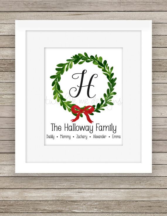 Personalized Christmas Sign Our Family Printable Christmas Prints Christmas Decor Christmas La Christmas Signs Christmas Monogram Personalized Signs Family