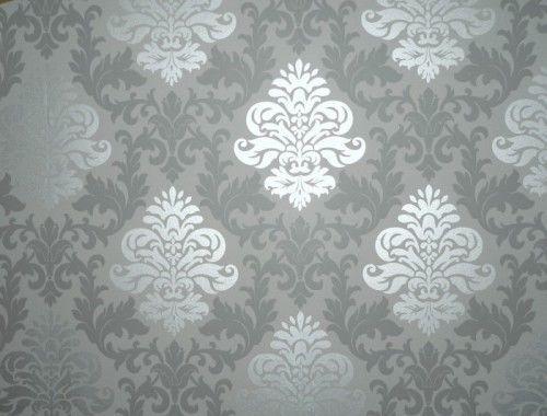 Trend Details zu Tapete Barock Ornamente Klassik Rasch Glanz Lounge grau silber uac qm