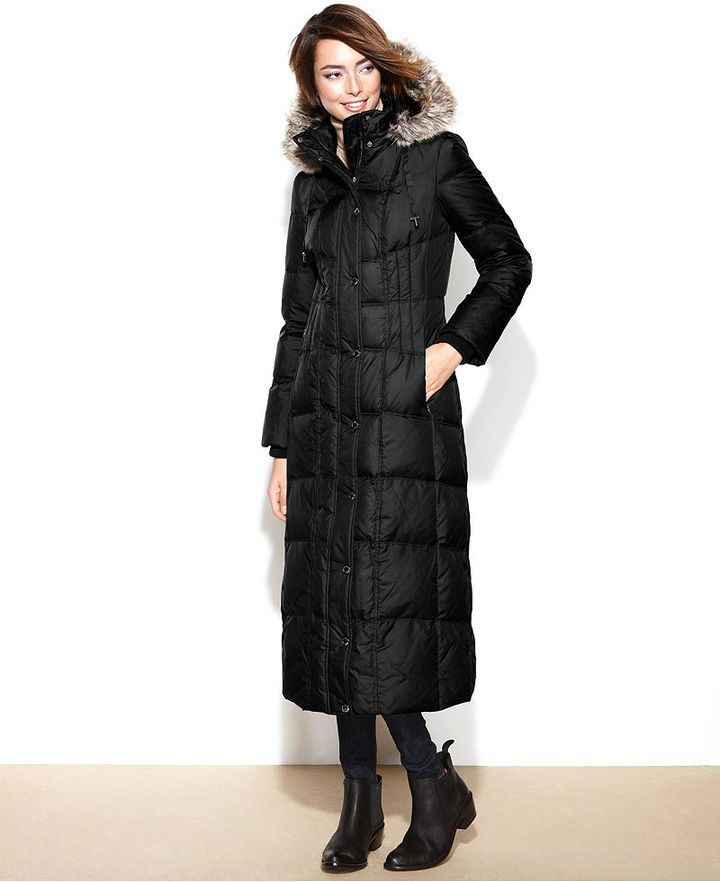 815ae6d2ee50 Long Puffer Coat with Hood